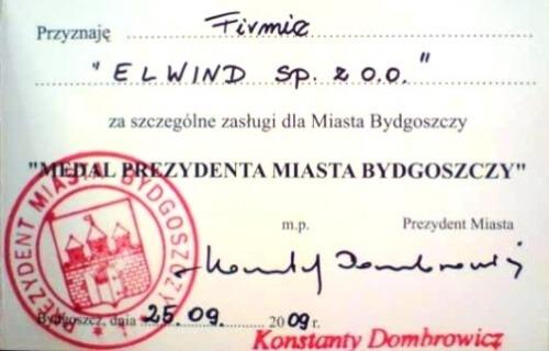 Medal Prezydenta Miasta Bydgoszcz